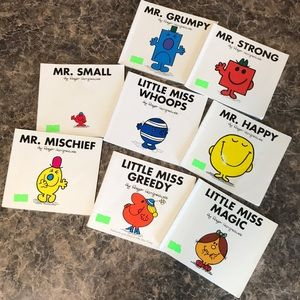 8 Little Miss and Mr. books